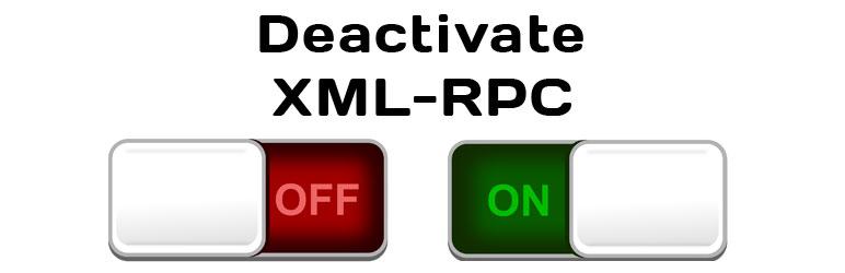 Deactivate XML-RPC Service banner