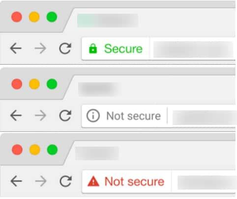Chrome address bar Not Secure