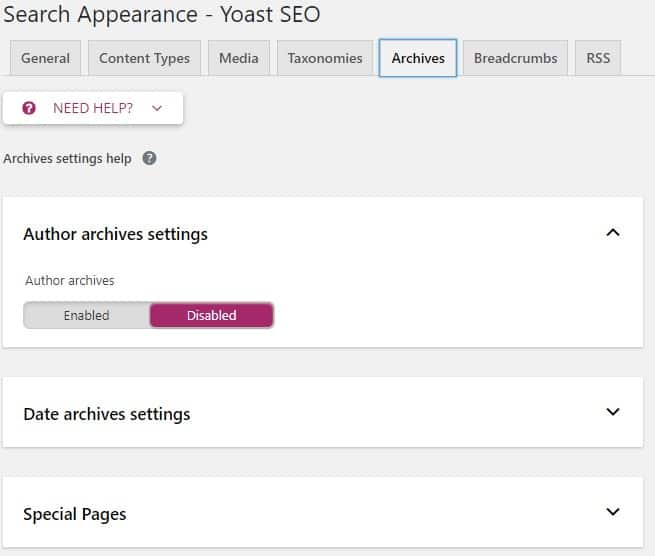 search appearance archives