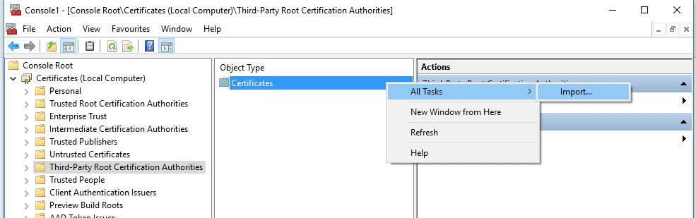 trusted root CA