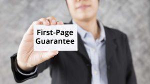 Guaranteed First Page Google Rankings